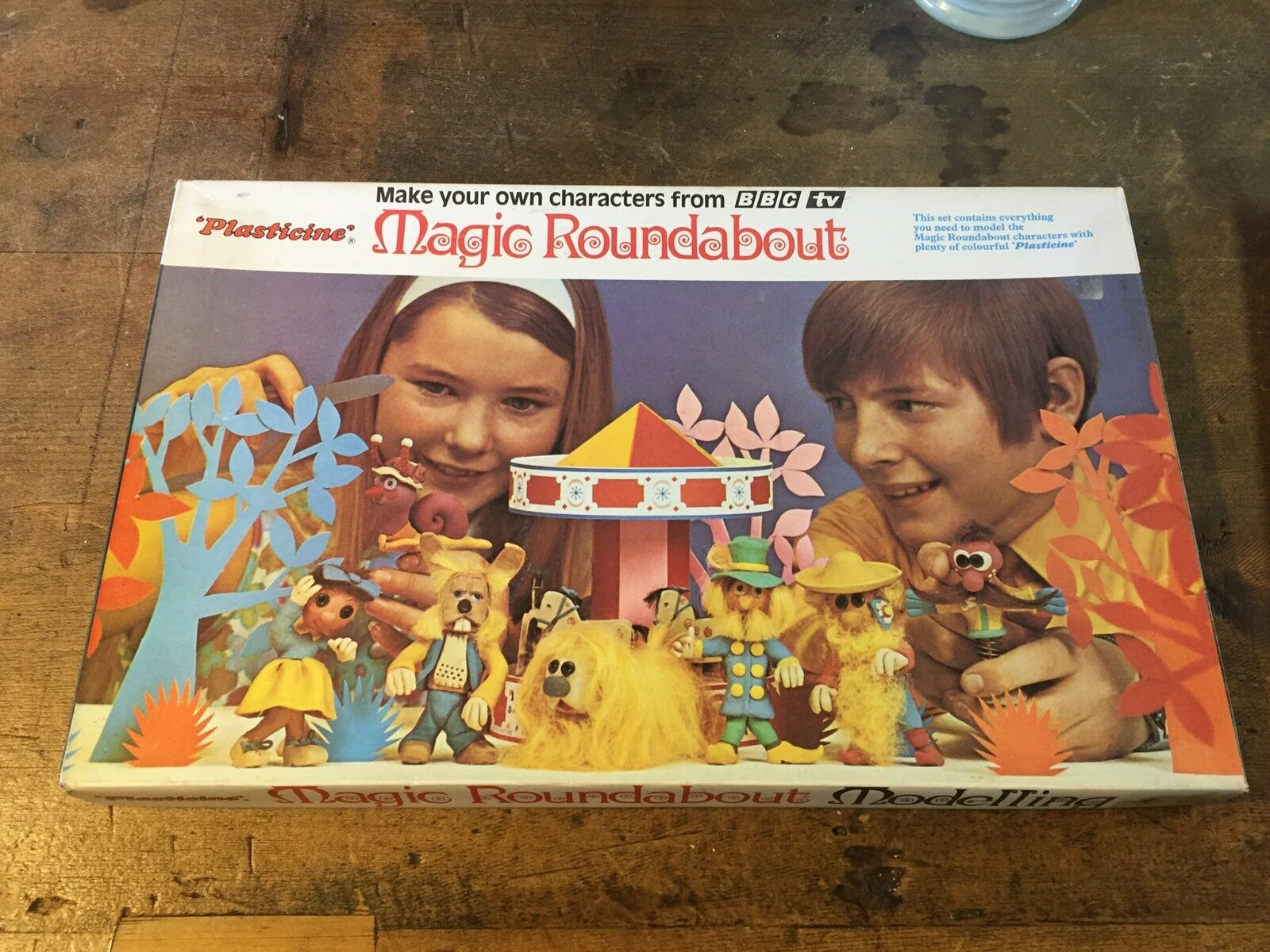 Vintage Magic Roundabout Plasticine Modelling Kit (c) 1970
