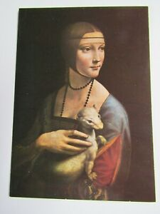 Medici Postcard by Leonardo Da Vinci Lady With Ermine PC1511