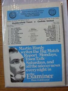 23081977 Huddersfield Town v Carlisle United Football League Cup No Apparen - <span itemprop=availableAtOrFrom>Birmingham, United Kingdom</span> - Returns accepted within 30 days after the item is delivered, if goods not as described. Buyer assumes responibilty for return proof of postage and costs. Most purchases from business s - Birmingham, United Kingdom