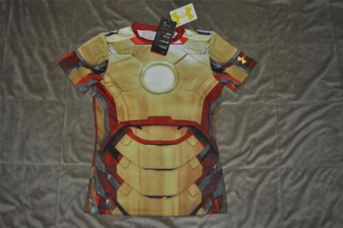 Under Armour Alter Ego IRON MAN Marvel Comics Compression Shirt 1246521 602 KIDS