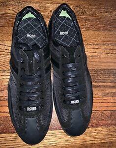 hugo boss men's black eu 43 us 10 suede smart/casual shoes