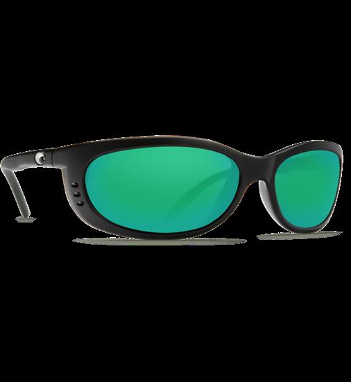 Costa Sunglasses Fathom Black Green Mirror 400G FTH