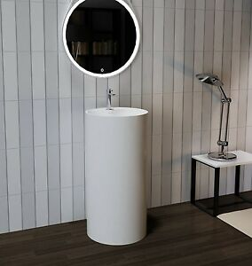Bathroom Pedestal Sink - Freestanding Pedestal Sink - Modern Sink ...