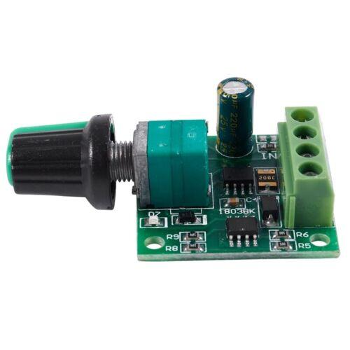 DC 1.8V 3V 5V 6V 12V 2A Motor Drehzahlsteller Regler Kontroller 30W PWM 1803Q7F3