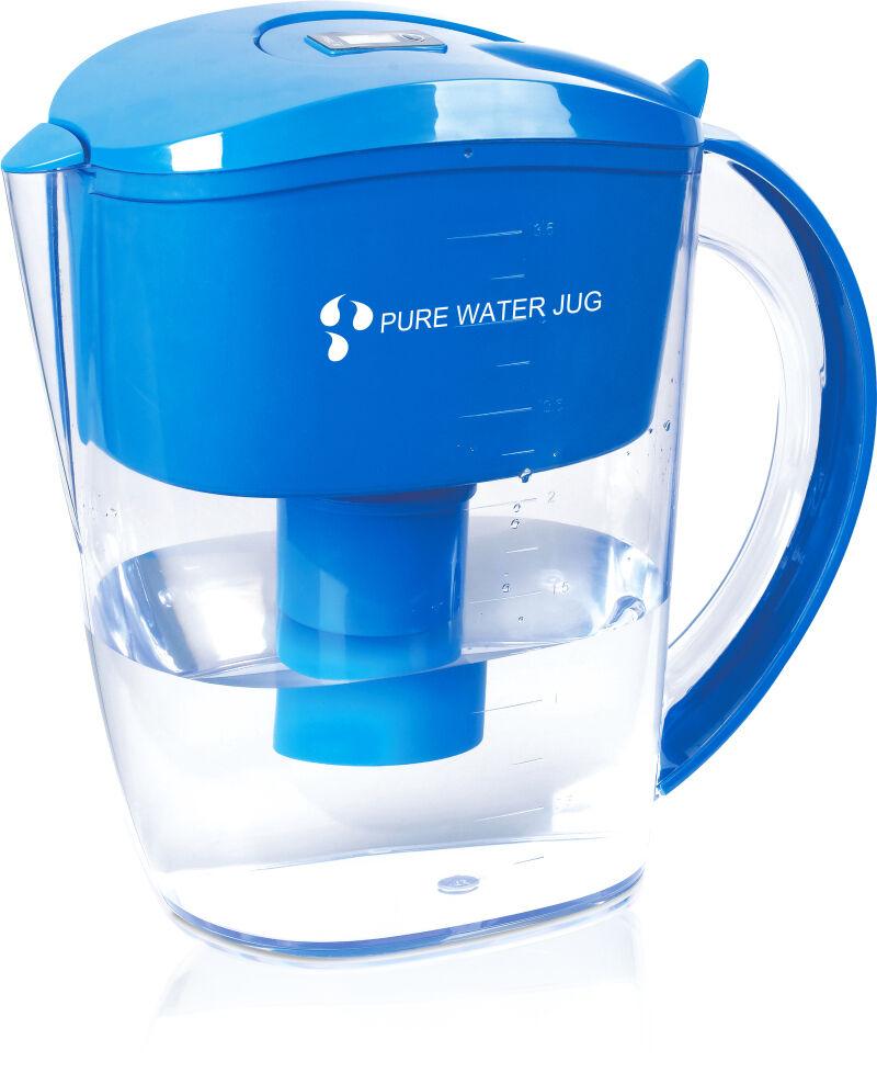 Ionizador De Agua Alcalina filtrada Jarra + 4 siete filtros de etapa. libre De Bpa, 3.5 L