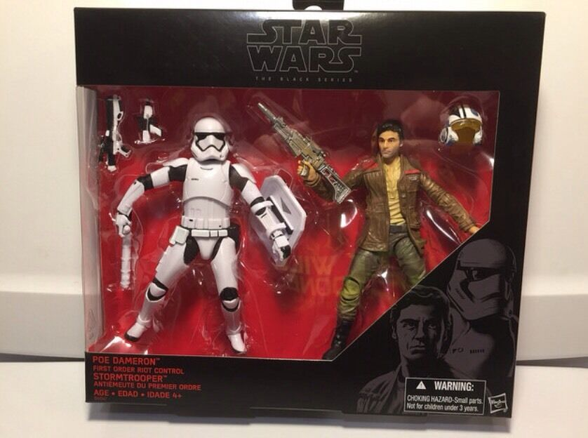 Star Wars schwarz Series 6  Poe Dameron & And Riot Control Stormtrooper Twin Pack