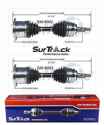 For Chevy Avalanche Silverado 1500 3500 Pair Front CV Axle Shafts SurTrack Set