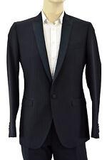 $2.495 DOLCE & GABBANA Black BRAD Tuxedo Mens D&G 1 Button Suit EU 48 US 38