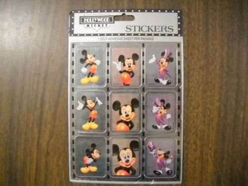 Vintage Gibson Sticker  Pack 1980/'s 1990/'s Hollywood Mickey 4 Sheets per Package
