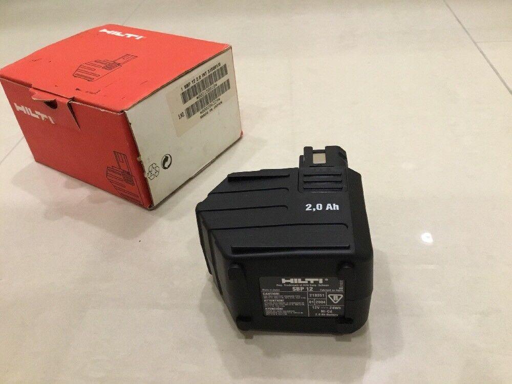Hilti Akku SBP12 2.0 AH 12 V neu für SF120 A und SB 12 original nagelneu SFB 125