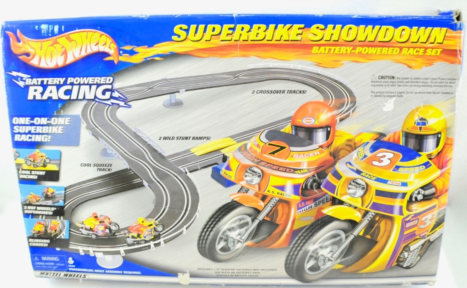 Vintage Hot Wheels SuperFahrrad Showdown Race Set