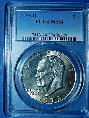 1973-D Eisenhower Dollar Ike MS64 PCGS 64 Mint State