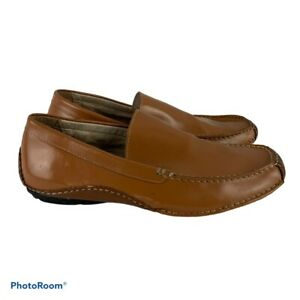 Steve-Madden-Men-s-11-Novo-Brown-Leather-Casual-Slip-On-Driving-Loafers-Shoes