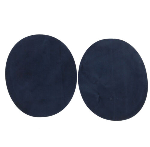 1 Pair Oval Iron-On Faux Suede Elbow//Knee Patches Dark Blue Rustic Shades