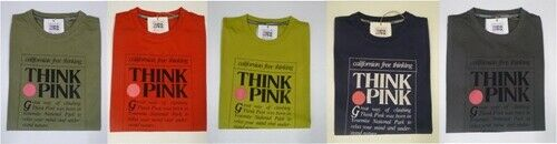 THINK PINK Herren T-Shirt Baumwollshirt Think Pink Shirt Logo Basic *NEU*