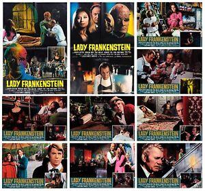 LADY FRANKENSTEIN SET FOTOBUSTE 8+2 SOGG. HORROR 1971 BARON BLOOD LOBBY CARD