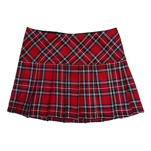 Tripp-NYC-80s-90s-Gothic-Punk-Emo-Red-Tartan-Plaid-School-Girl-Mini-Skirt-Size-M
