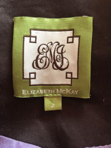 brun Elizabeth magnifique chocolat broderie avec Mckay taille manteau Nouveau 2 EqqHSrT