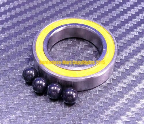 15x24x5 mm S6802-2RS QTY 1 Hybrid Ceramic Ball Bearing ABEC-5 YELLOW 6802RS