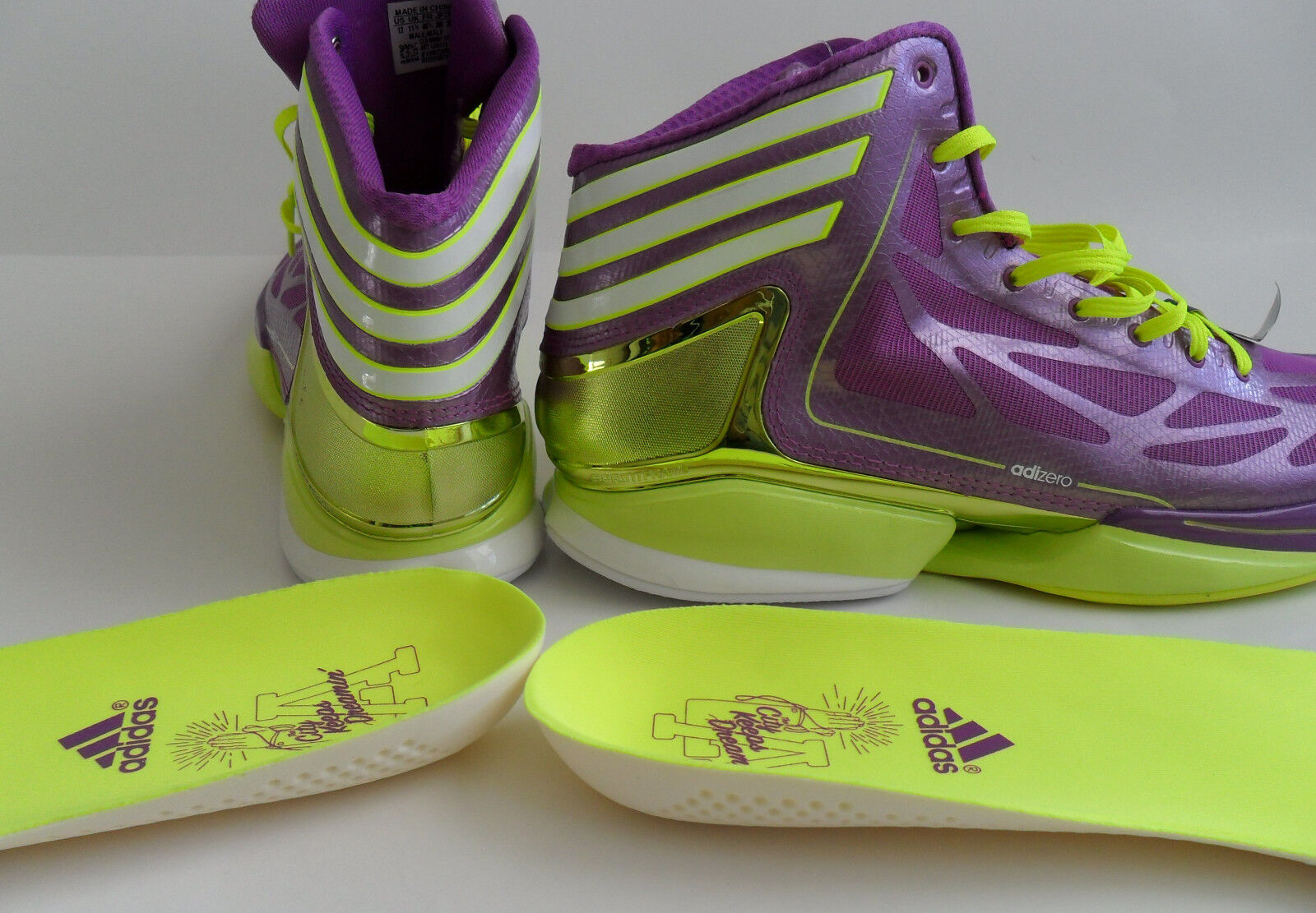 Neue - adidas adizero verrückte licht 2 la dream city city city basketball - schuhe rose - mens größe 9. 76fb8d