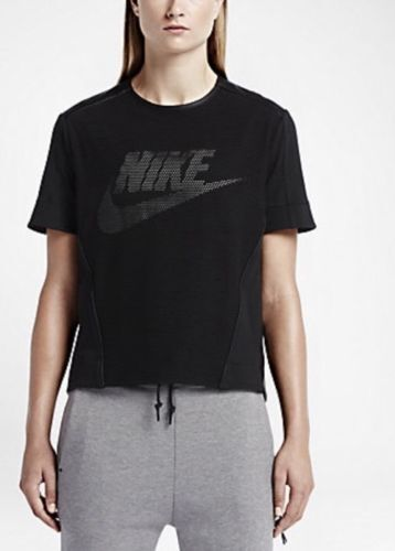 NEW  100 NIKE PERFORATED PREMIUM GRAPHIC WOMEN'S TOP Sz  XL 749130 010