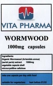 Wormword-1000mg-30-Capsule-parassita-detergere-la-salute-dell-039-apparato-digerente-Detox