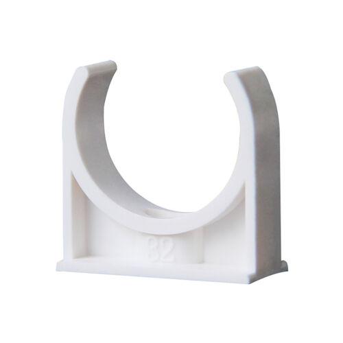 Grau Details about  /20-50mm PVC Rohrschellen Schelle Schraubrohrschellen Schelle Offen Weiß