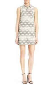NWT-Alice-Olivia-039-Isabelle-039-Sleeveless-Cotton-amp-Linen-Shirtdress