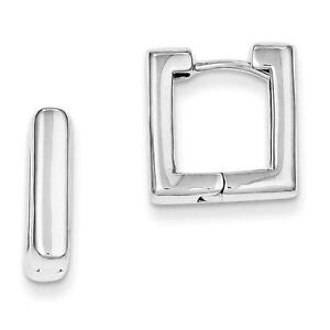 Sterling-Silver-Polished-Square-Hoop-Hinged-Earrings-4mm-x-14mm