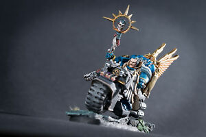 Sage-Librarian-on-bike-Conversion-set-for-Space-Marine-Bike-power-weapons-inc