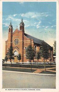 PARSONS-KS-1920-St-Mary-039-s-Catholic-Church-VINTAGE-ROMAN-CATHOLIC-GEM-468
