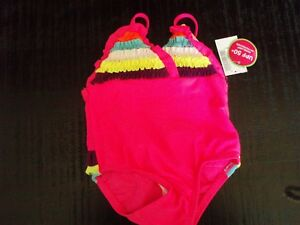 0f98425b813e2 NWT ~ Children's Place ~ Infant Girls Bright Pink Swimsuit ~ SIZE 6/9 MO