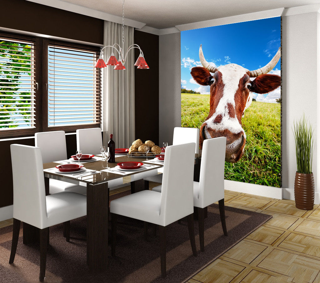 3D Dairy cow grass 3777 Paper Wall Print Decal Wall Wall Murals AJ WALLPAPER GB