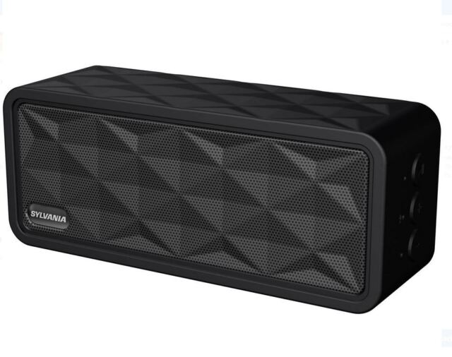 SYLVANIA Sp8 Black Rugged Portable Speaker Bluetooth