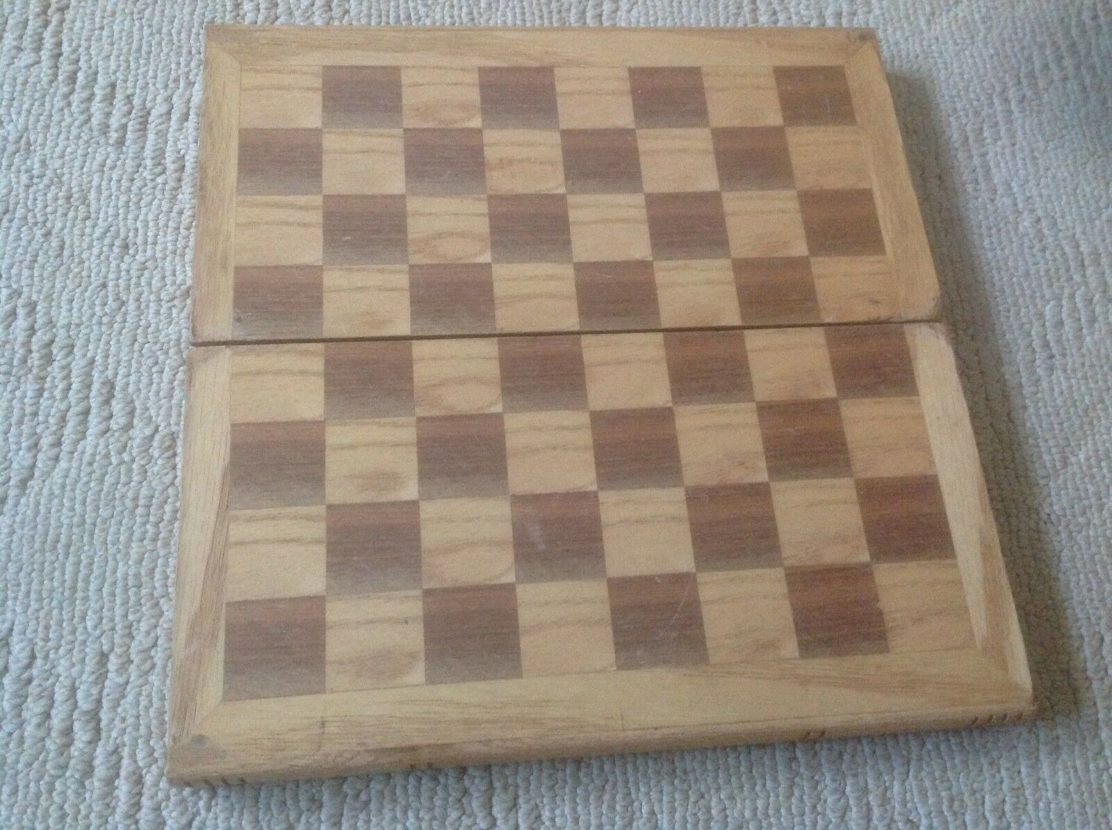 Ancienne Vintage en Bois Pièces d'échecs jeu complet + étui  sculpté à la main Smithsonian Drueke  différentes tailles