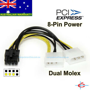 4 Pin Molex To 8 Pin Pci E Express Video Card Graphic Card