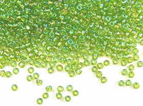 550 size 8-3mm 10g chartreuse green rainbow Matsuno Japanese seed beads