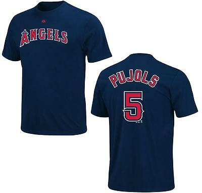 Fanartikel Verantwortlich Mlb Baseball Name&number T-shirt Los Angeles Angels Albert Pujols #5 Navy In Den Spezifikationen VervollstäNdigen