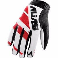 Alias Motocross Bmx Gloves Clutch Men's Size 8 Small Red/wht 2810-002-008