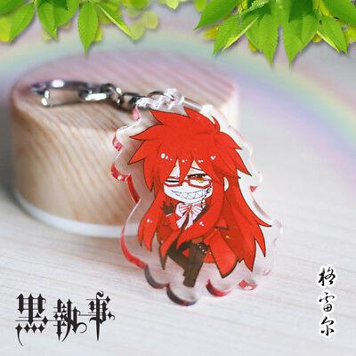 Black Butler Sebastian·Michaelis Acrylic Buckle Key Ring Anime Cute Key Chain