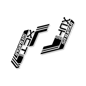 SR Suntour XCT 28 Replica Suspension Fork Decal//StickersReplacementVinyl