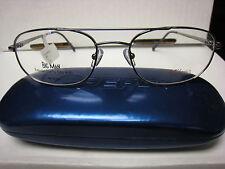 55d5e2bb5cef 10 yes 10 NEW Via PADRE Milano in GUNMETAL eyeglass frame eye glasses 56-19