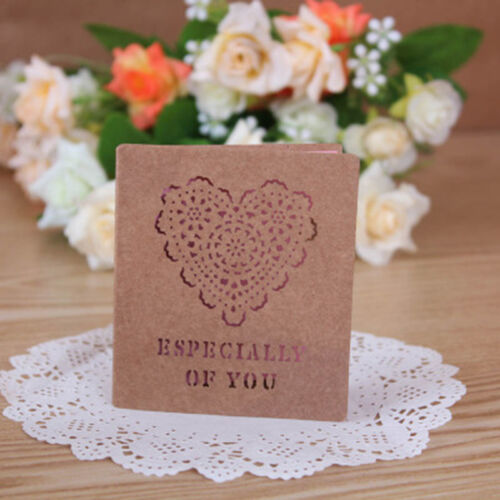 Paper Vintage Hollow Style Greeting Card Set With Envelope//Bookmark//Gift Card