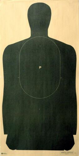 "Full 45/"" length B-27 50-Yard Police Pistol Silhouette Target Color Options"