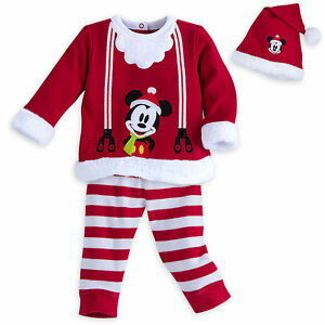 image is loading disney store mickey christmas pajamas w hat baby