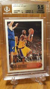 1996-97 Topps #138 Kobe Bryant Los Angeles Lakers RC Rookie HOF BGS 9.5 GEM MINT