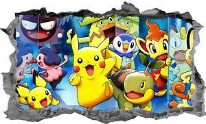 Pokemon-Kids-Sticker-Decal-3D-Bedroom-Wall-Art-Mural