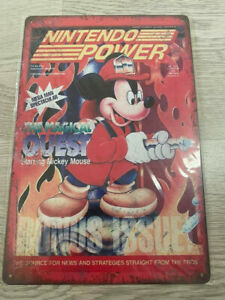 Plaque métal décorative rétro vintage Nintendo power mickey disney