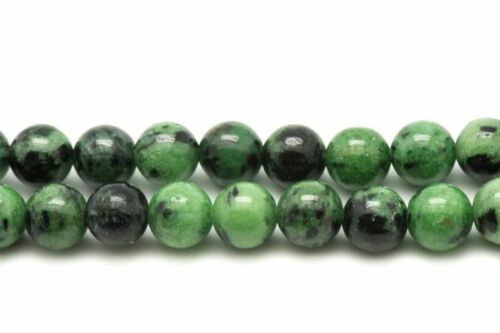 Rubis Zoïsite Boules 8mm Fil 39cm Perles de Pierre