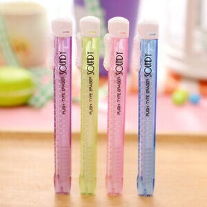 Mechanical-Pen-Shape-Eraser-Rubber-Retractable-Stationery-Student-Kid-Gifts-Toy
